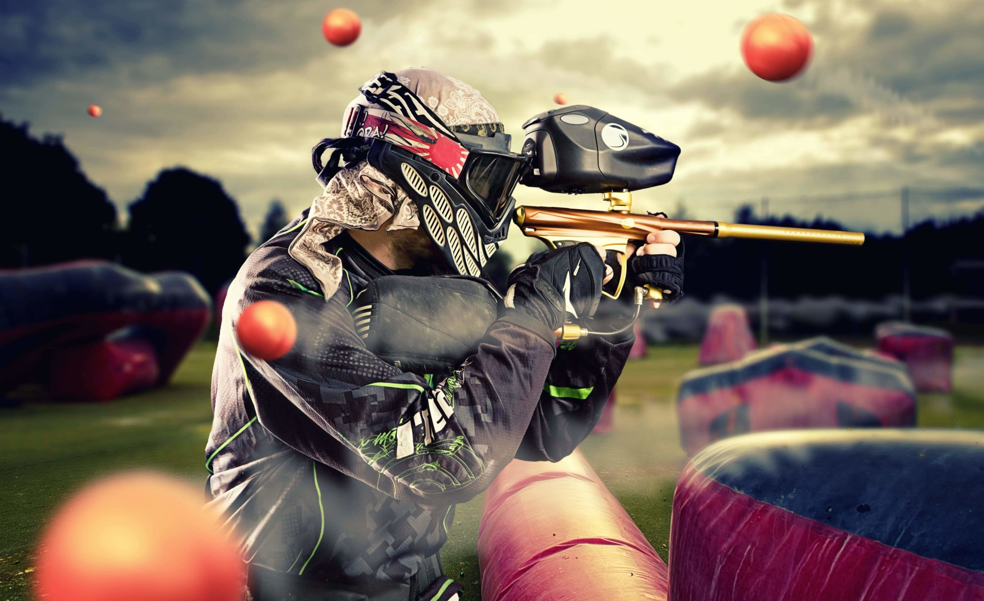 Mobile paintball games